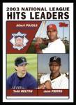2004 Topps #344   -  Albert Pujols / Todd Helton / Juan Pierre Leaders Front Thumbnail