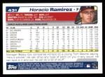 2004 Topps #431  Horacio Ramirez  Back Thumbnail