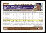 2004 Topps #192  Oscar Villarreal  Back Thumbnail