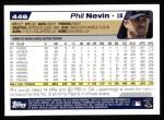 2004 Topps #446  Phil Nevin  Back Thumbnail