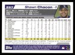 2004 Topps #257  Shawn Chacon  Back Thumbnail