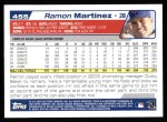 2004 Topps #455  Ramon Martinez  Back Thumbnail