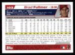 2004 Topps #103  Brad Fullmer  Back Thumbnail