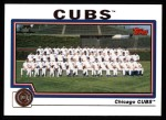 2004 Topps #643   Chicago Cubs Team Front Thumbnail