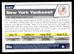 2004 Topps #657   New York Yankees Team Back Thumbnail