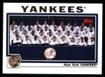 2004 Topps #657   New York Yankees Team Front Thumbnail