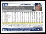 2004 Topps #555  David Ross  Back Thumbnail