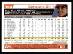 2004 Topps #163  Geronimo Gil  Back Thumbnail