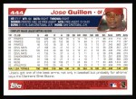 2004 Topps #444  Jose Guillen  Back Thumbnail