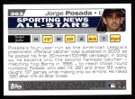 2004 Topps #363   -  Jorge Posada All-Star Back Thumbnail