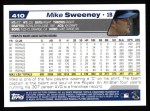 2004 Topps #410  Mike Sweeney  Back Thumbnail
