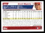 2004 Topps #551  Brett Myers  Back Thumbnail