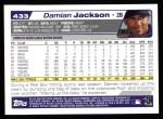 2004 Topps #433  Damian Jackson  Back Thumbnail
