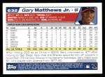 2004 Topps #632  Gary Matthews Jr.  Back Thumbnail