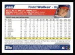 2004 Topps #480  Todd Walker  Back Thumbnail