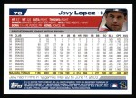 2004 Topps #78  Javy Lopez  Back Thumbnail