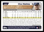 2004 Topps #147  Wes Helms  Back Thumbnail