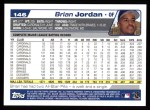 2004 Topps #146  Brian Jordan  Back Thumbnail