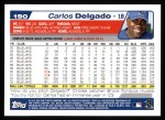 2004 Topps #190  Carlos Delgado  Back Thumbnail