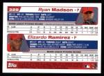 2004 Topps #328  Ryan Madson / Elizardo Ramirez  Back Thumbnail
