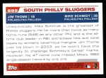 2004 Topps #695  Jim Thome / Mike Schmidt  Back Thumbnail