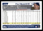 2004 Topps #175  Paul Quantrill  Back Thumbnail