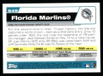 2004 Topps #649   Miami Marlins Team Back Thumbnail