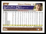 2004 Topps #44  Steve Finley  Back Thumbnail
