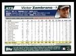 2004 Topps #473  Victor Zambrano  Back Thumbnail