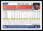 2004 Topps #373  Derrek Lee  Back Thumbnail