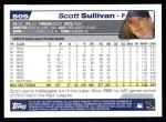 2004 Topps #509  Scott Sullivan  Back Thumbnail