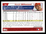 2004 Topps #11  Kevin Millwood  Back Thumbnail