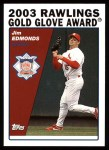 2004 Topps #713   -  Jim Edmonds Golden Glove Front Thumbnail
