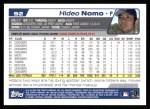 2004 Topps #92  Hideo Nomo  Back Thumbnail