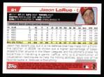 2004 Topps #21  Jason LaRue  Back Thumbnail