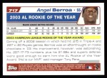 2004 Topps #717  Angel Berroa  Back Thumbnail