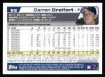 2004 Topps #95  Darren Dreifort  Back Thumbnail