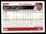 2004 Topps #409  Paul Wilson  Back Thumbnail
