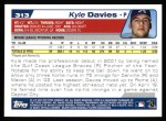2004 Topps #313   -  Kyle Davies First Year Back Thumbnail