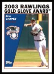 2004 Topps #700   -  Eric Chavez Golden Glove Front Thumbnail