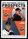 2004 Topps #691  Adam Loewen / Nick Markakis  Front Thumbnail