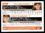 2004 Topps #691  Adam Loewen / Nick Markakis  Back Thumbnail