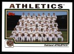 2004 Topps #658   Oakland Athletics Team Front Thumbnail