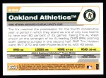 2004 Topps #658   Oakland Athletics Team Back Thumbnail