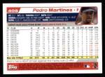 2004 Topps #405  Pedro Martinez  Back Thumbnail