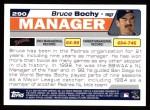 2004 Topps #290  Bruce Bochy  Back Thumbnail