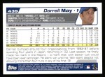2004 Topps #439  Darrell May  Back Thumbnail