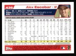 2004 Topps #436  Alex Escobar  Back Thumbnail