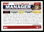 2004 Topps #293  Tony La Russa  Back Thumbnail