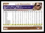 2004 Topps #475  Luis Gonzalez  Back Thumbnail